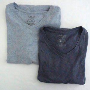 VINCE lot of 2 men's v-neck tee shirts